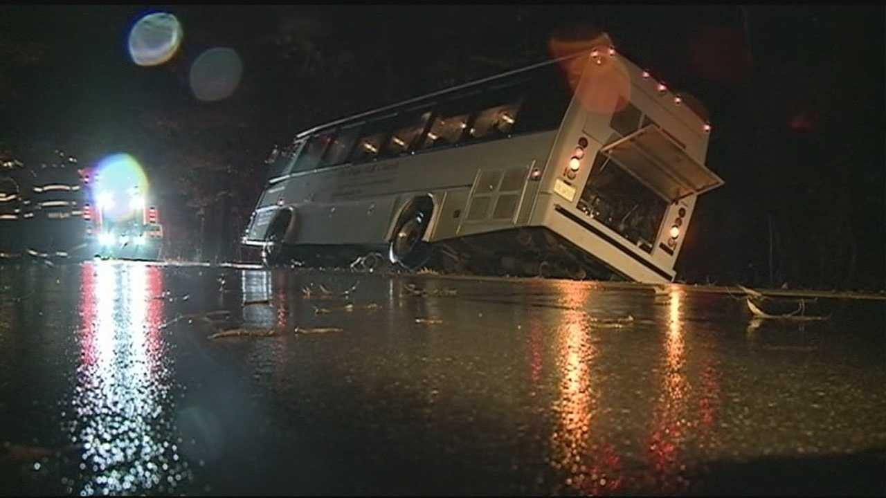A night of heavy rain set the stage for some dangerous driving conditions.