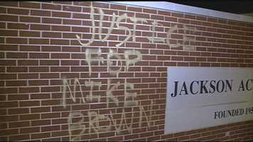 Graffiti was found at Jackson Academy.