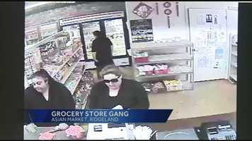 Ridgeland police are searching for five women suspected in a grocery store heist.