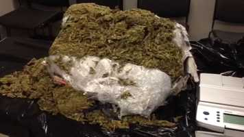 Jackson police make an arrest after 25 pounds of marijuana and $23,000 in cash is found.