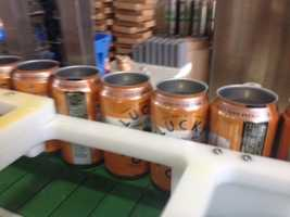 Lucky Town microbrewery began canning beer Wednesday at its Mill Street location in Jackson.