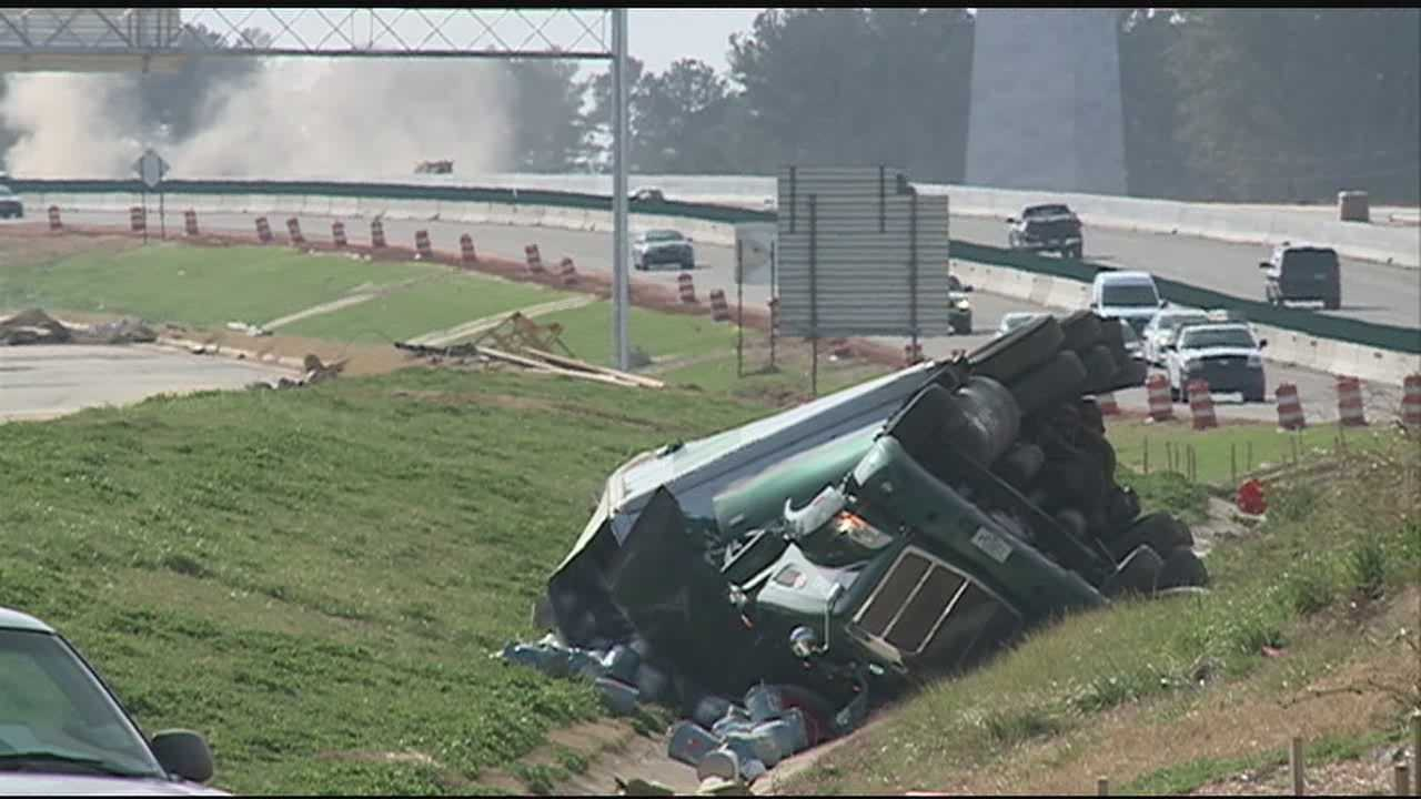 A truck crash shut down a major roadway in Madison.