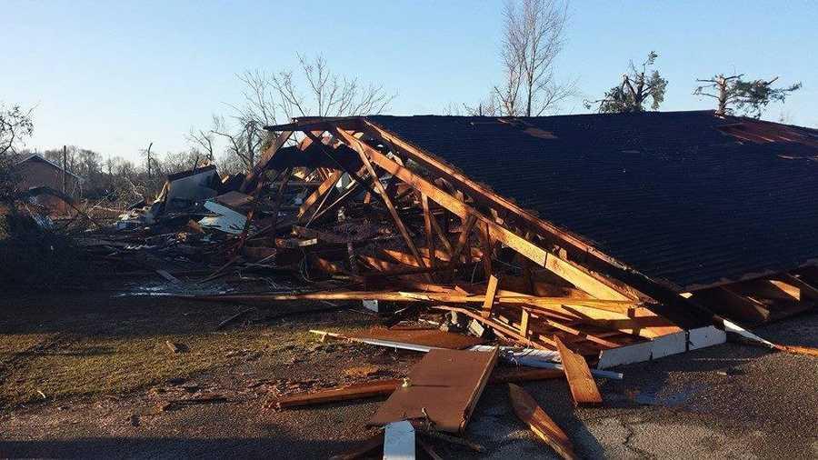 Tornado damage in Columbia