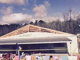 The Kids Campus Learning Center in Sumrall was damaged by the tornado.