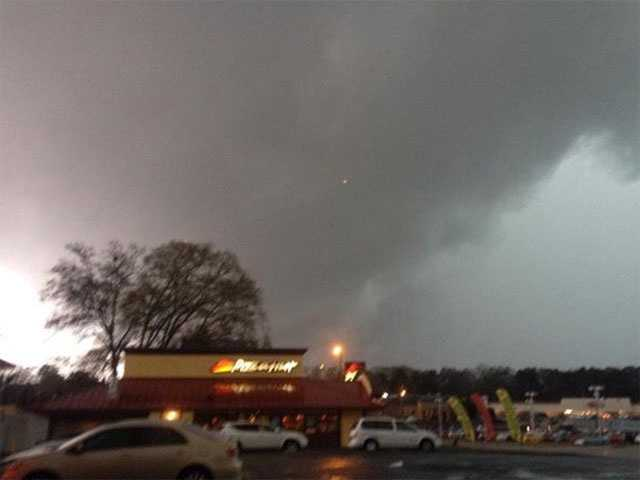 This picture was taken in Laurel on Tuesday.