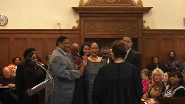 LaRita Cooper Stokes is sworn in as Hinds County judge.