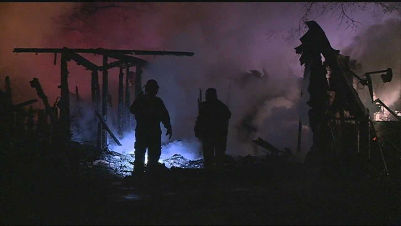 An early morning fire destroyed a home in Bolton.