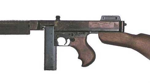 A tommy gun, like this one, was sold at auction by the Clay County Sheriff's Department for $25,000.