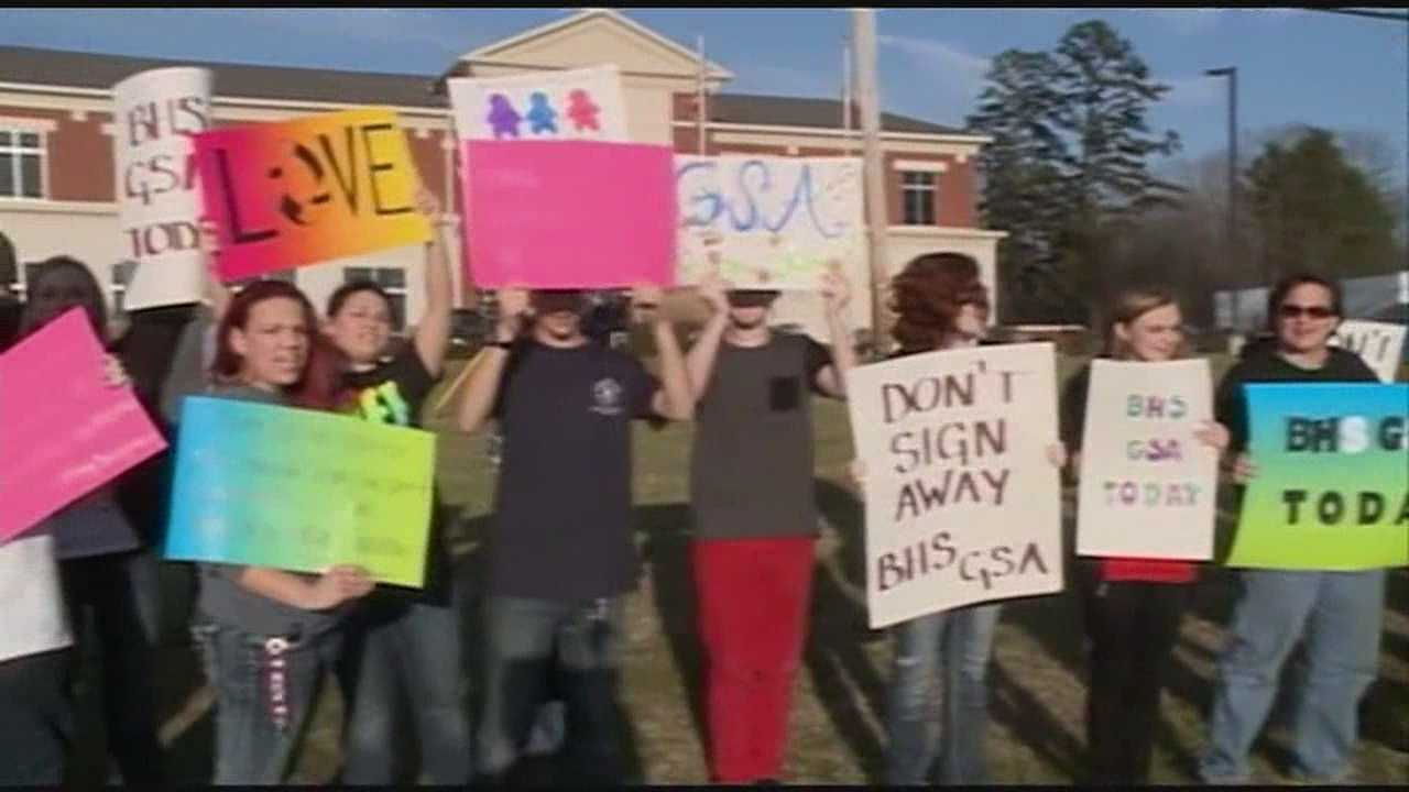 Tonight, protests in the Rankin County School district over LGBT clubs.