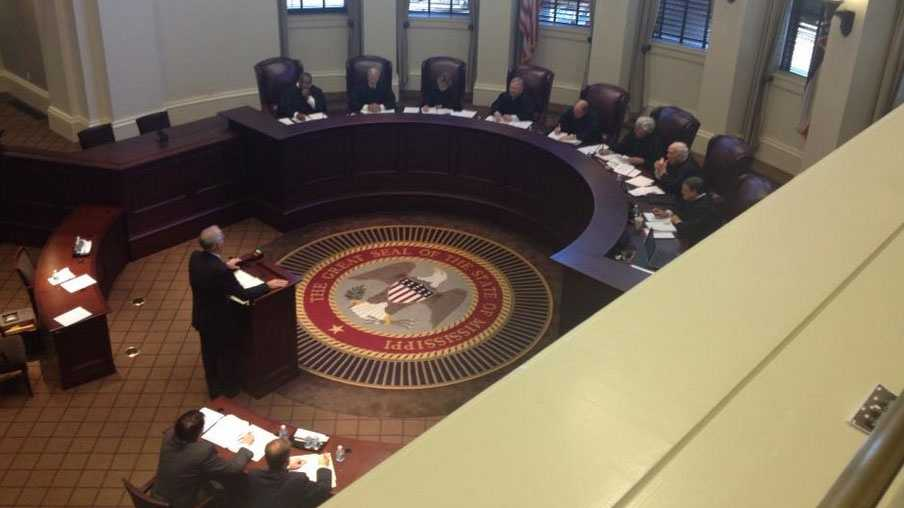 The Mississippi Supreme Court hears arguments in a same-sex divorce case.