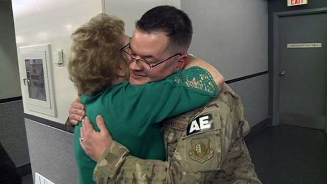 Capt. Chad Parish, of Brandon, returns home from Afghanistan.