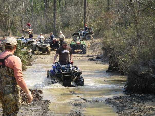 Go mud riding.