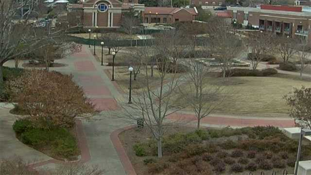 The Ole Miss campus was empty Monday because of a water problem.