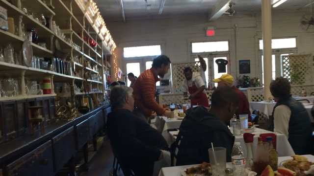 Daniel Mayers shared this picture of Matthew McConaughey at the Country Store in Lorman on Saturday.