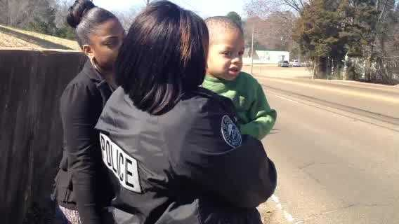 Jackson police are working to identify a 3-year-old boy found wandering in the middle of West McDowell Road.