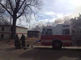 The fire broke out about 10 a.m. near W. Capitol Street.