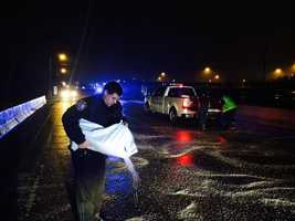 Brandon police and road crews worked through the night to keep the roads open.