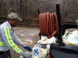 Madison County road crews worked Tuesday to pre-treat the roads before Wednesday's winter weather hits.