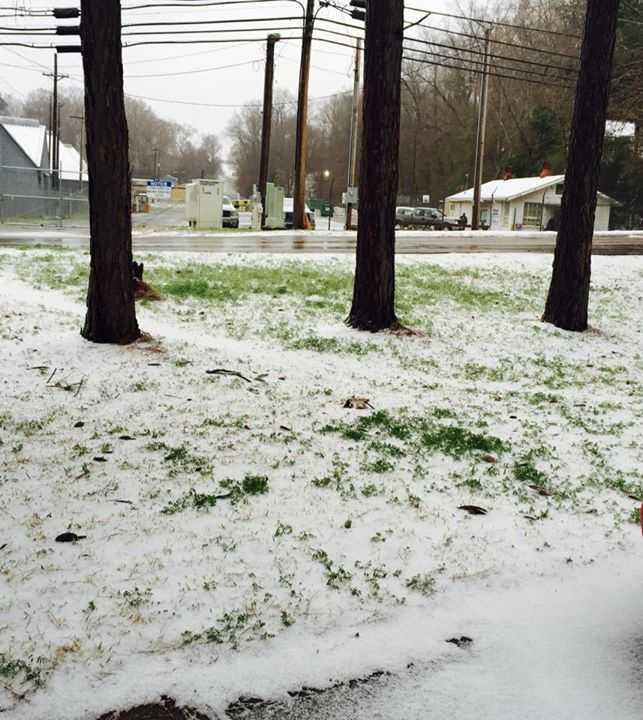 Ice in Vicksburg