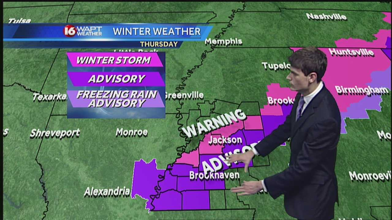 16 WAPT meteorologist Adam McWilliams has the forecast for Jackson and Central Mississippi.