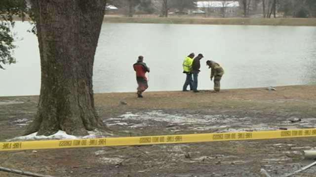 It wasn't immediately known if anyone else was in the car when it went into the water.