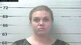 Brittany Nicole Blackwelder, 28, is charged with embezzlement, Biloxi police say.