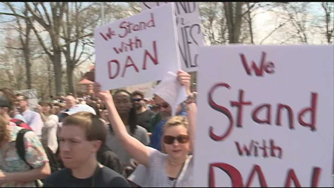 A rally brings about a hundred protesters outside the Jackson offices of IHL this weekend.