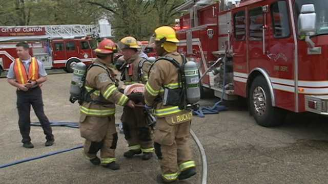 First responders in Clinton held a disaster drill at Fire Station No. 2.