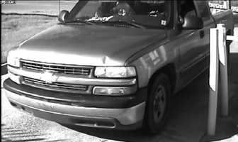 2001 Chevrolet truck, according to police belong to the suspects involved in the burglaries of Purple Creek Storage Facility.