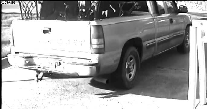 2004 Chevrolet truck, according to police belong to the suspects involved in the burglaries of Purple Creek Storage Facility.