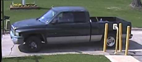 2002 Dodge truck, according to police belong to the suspects involved in the burglaries of Purple Creek Storage Facility.