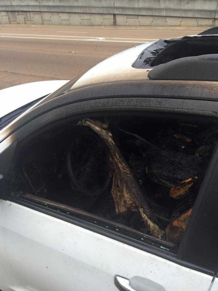 """We ran away from the car and the car burst into flames and exploded,"" Sivira said."