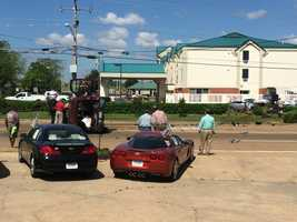 A Mustang and SUV collide on Ridgewood Road and Centre Street in Ridgeland.