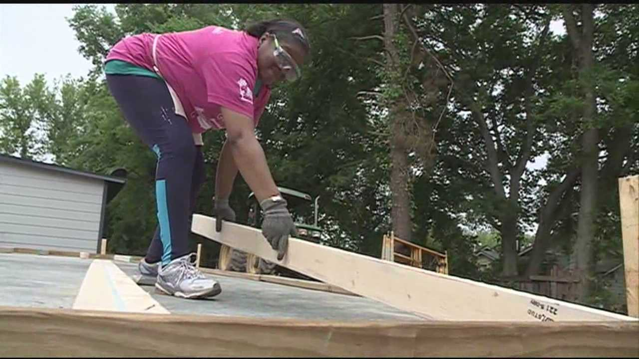 This Mother's Day weekend dozens of women are building a house for someone in need.