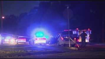 Gunfire erupted Saturday night during what authorities described as a routine traffic stop gone awry.