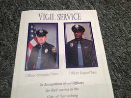 A memorial service was held at the Hattiesburg Convention Center to honor the slain officers.