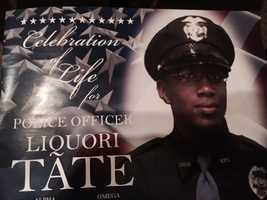 Hundreds attend the funeral Saturday for slain Hattiesburg Officer Liquori Tate.
