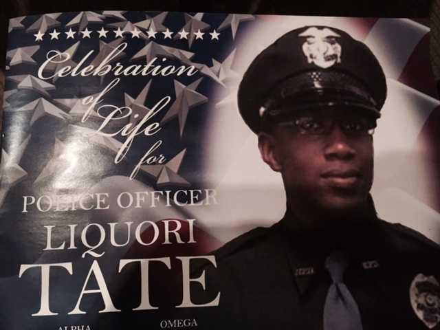 Hundreds attend the funeral Saturday for slain Hattiesburg Officer Liquori Tate.