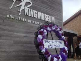 He was buried on the grounds of the B.B. King Museum and Delta Interpretive Center in Indianola.