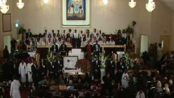 friends and family attend B.B. King's funeral in Indianola.