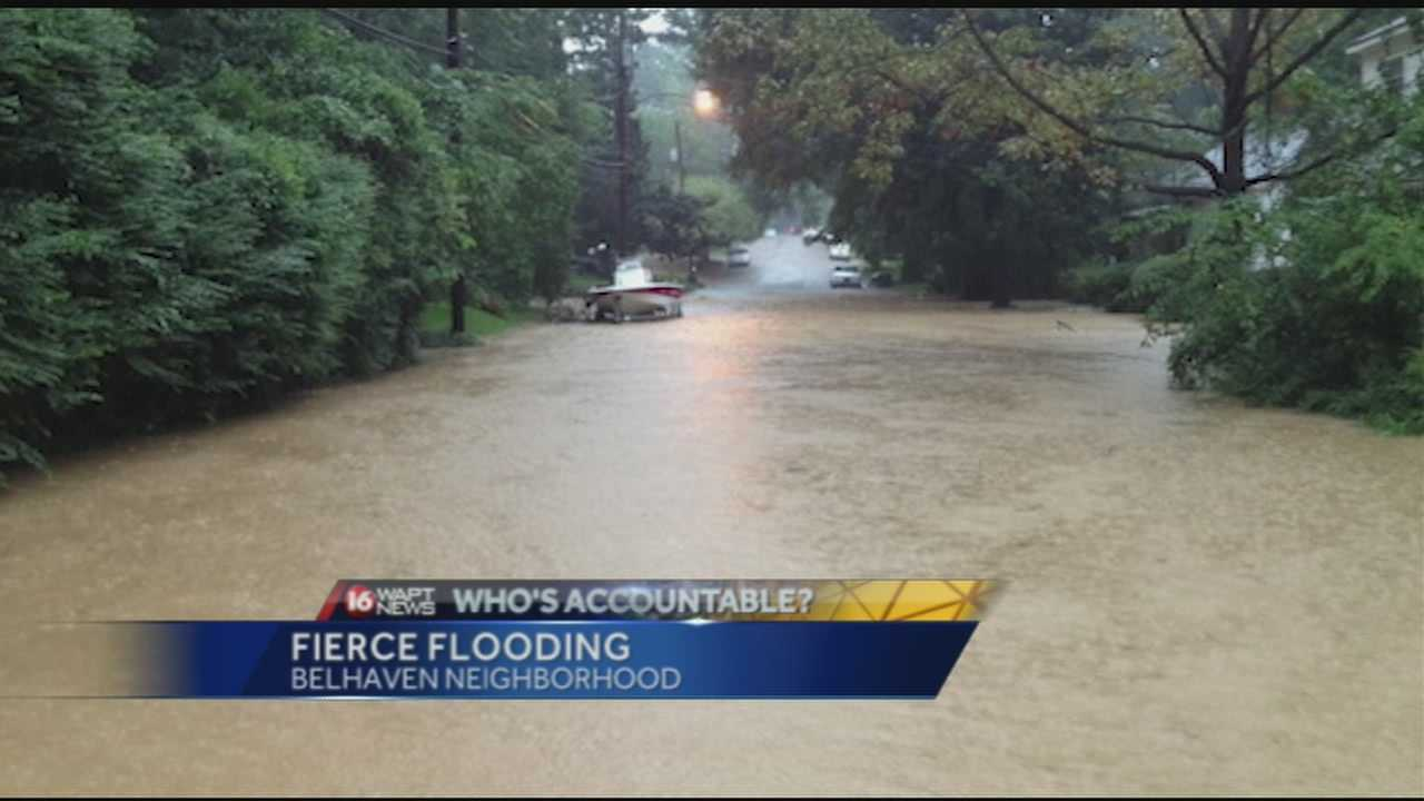 Belhaven neighbors scrambling to get help after heavy flooding over the weekend.