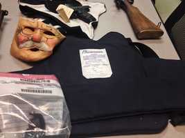 The Rankin County sheriff says deputies seized a number of items, including several law enforcement badges and a police jacket.
