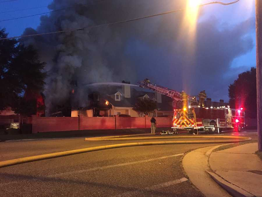 A fire broke out about 4:30 a.m. Monday at Northpointe Village Apartments on Old Canton Road.