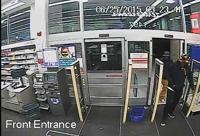 The robbers stole prescription drugs, police say.