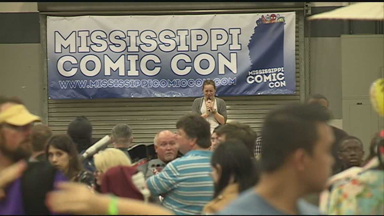 From crazy costumes to super heroes... characters from pop culture packed the Trademart Center today for Comic -Con.