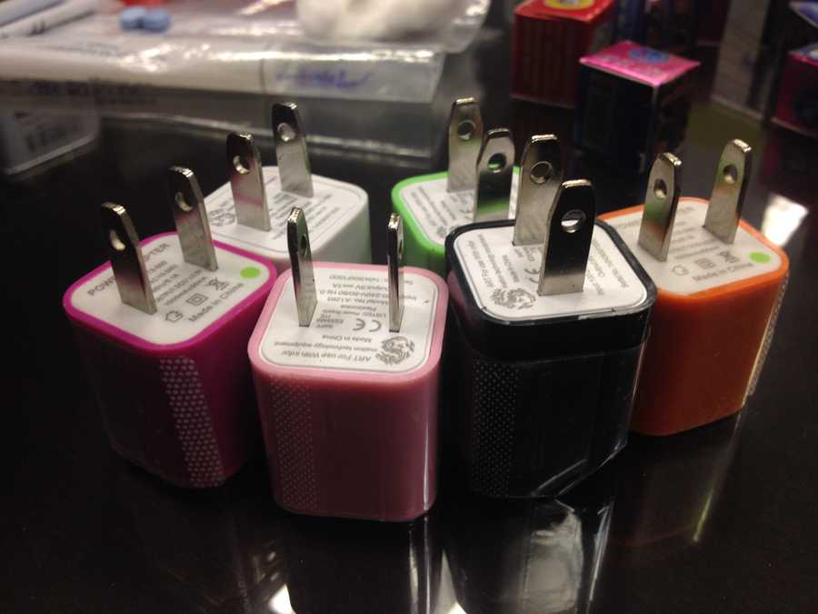 Other counterfeit items, including phone chargers, were seized during the operation as well.