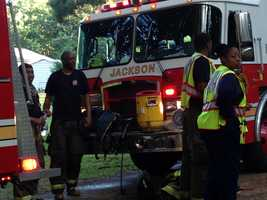 Firefighters from Jackson and Hinds County responded to the fire.