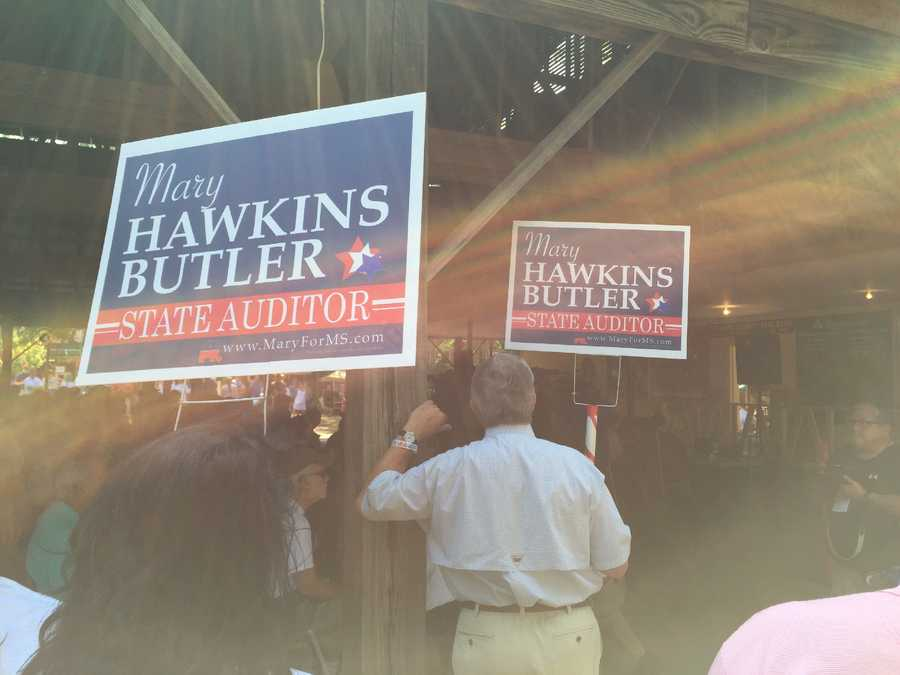 The candidates make campaign speeches at the Neshoba County Fair just days before party primaries.