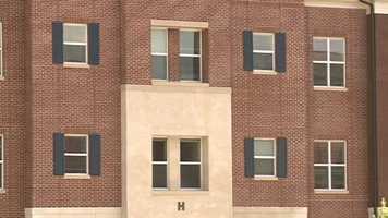 The new pod-style dorms will house 189 upper-classmen.