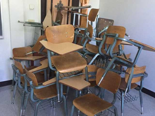 Students barricaded themselves inside classrooms after hearing of a shooter on campus.